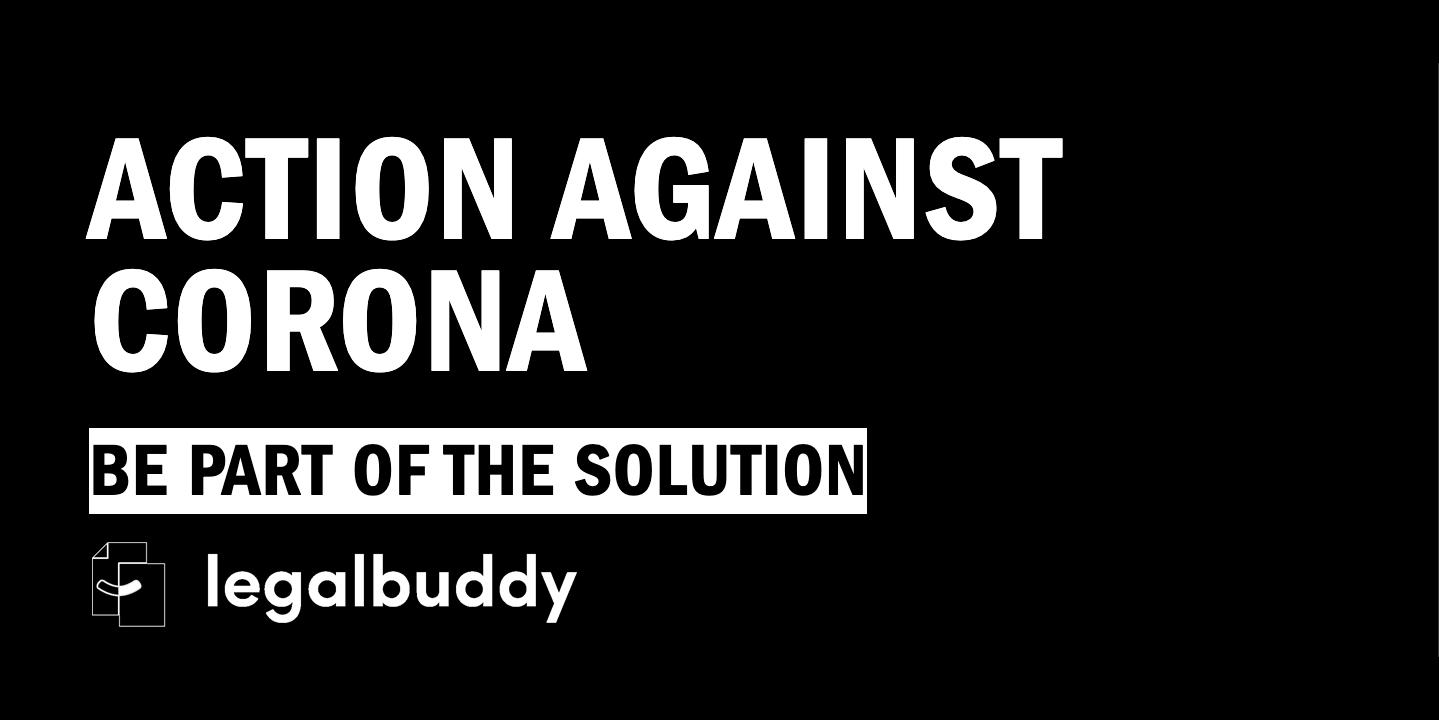 Legalbuddy stöttar Action Against Corona